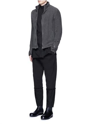 Figure View - Click To Enlarge - The Viridi-anne - Asymmetric button collar cotton shirt