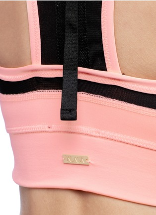 Detail View - Click To Enlarge - Alala - 'Zip it up' mesh panel sports bra