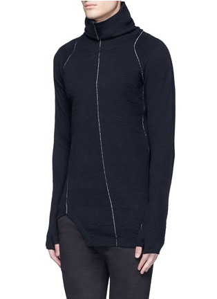 Front View - Click To Enlarge - The Viridi-anne - Contrast seam cotton turtleneck sweater