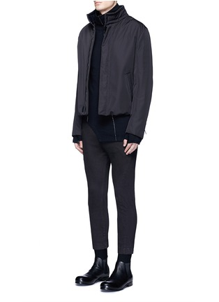 Figure View - Click To Enlarge - The Viridi-anne - Contrast seam cotton turtleneck sweater