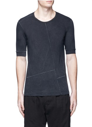 Main View - Click To Enlarge - The Viridi-anne - Contrast seam cotton T-shirt