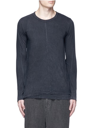 Main View - Click To Enlarge - The Viridi-anne - Contrast seam layered cotton T-shirt