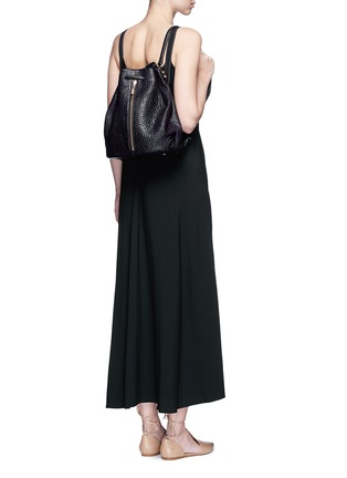 Figure View - Click To Enlarge - ELIZABETH AND JAMES - 'Cynnie Sling' grainy leather bucket bag