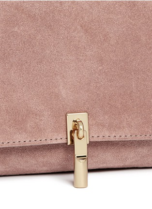 Detail View - Click To Enlarge - Elizabeth and James - 'Cynnie' micro suede crossbody bag