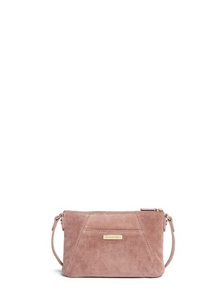 Back View - Click To Enlarge - Elizabeth and James - 'Cynnie' micro suede crossbody bag