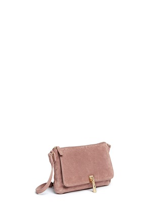 Front View - Click To Enlarge - Elizabeth and James - 'Cynnie' micro suede crossbody bag