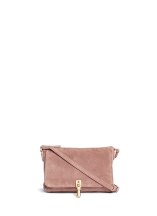 Main View - Click To Enlarge - Elizabeth and James - 'Cynnie' micro suede crossbody bag