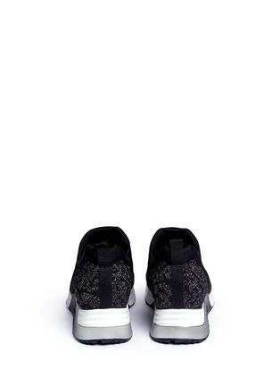 Back View - Click To Enlarge - Ash - 'Luv' metallic cheetah jacquard knit sneakers