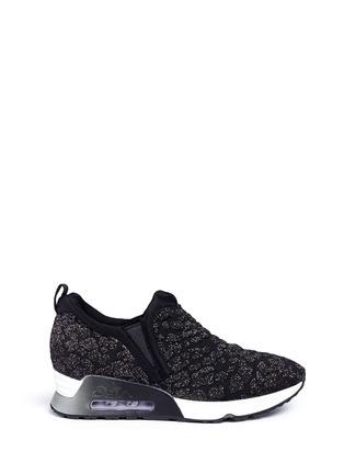 Main View - Click To Enlarge - Ash - 'Luv' metallic cheetah jacquard knit sneakers