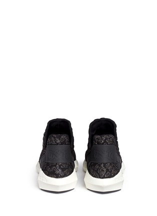 Back View - Click To Enlarge - Ash - 'Quid' geometric sole cheetah jacquard knit sneakers