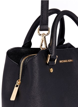 Detail View - Click To Enlarge - MICHAEL KORS - Savannah' small saffiano leather satchel