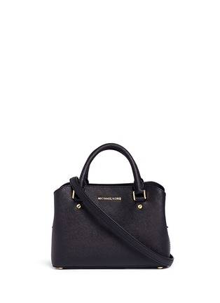 Main View - Click To Enlarge - MICHAEL KORS - Savannah' small saffiano leather satchel