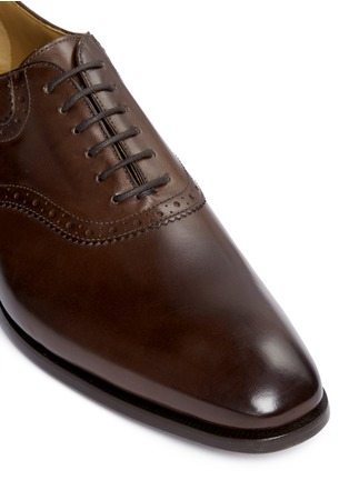 Detail View - Click To Enlarge - Rolando Sturlini - 'Parma' perforated leather Oxfords