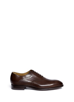 Main View - Click To Enlarge - Rolando Sturlini - 'Parma' perforated leather Oxfords