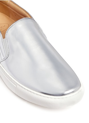Detail View - Click To Enlarge - BING XU - 'TriBeCa' mirror leather skate slip-ons
