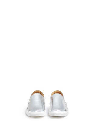 Front View - Click To Enlarge - BING XU - 'TriBeCa' mirror leather skate slip-ons
