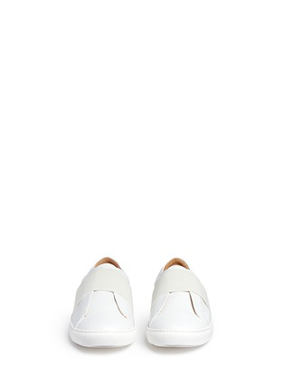 Front View - Click To Enlarge - Bing Xu - 'Hudson' elastic band skate slip-ons