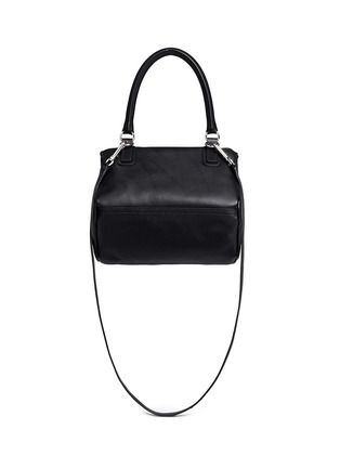 Back View - Click To Enlarge - GIVENCHY - 'Pandora' small velvet stud leather bag