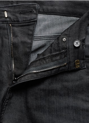 Detail View - Click To Enlarge - Neil Barrett - Washed rib-knit panel skinny jeans
