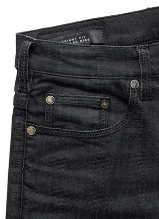 - Neil Barrett - Washed rib-knit panel skinny jeans