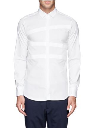 Main View - Click To Enlarge - Neil Barrett - Irregular stripe panel shirt