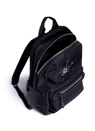 Detail View - Click To Enlarge - Lanvin - Spider embroidery nylon backpack