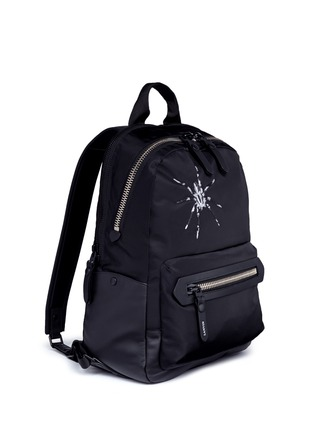 Front View - Click To Enlarge - Lanvin - Spider embroidery nylon backpack