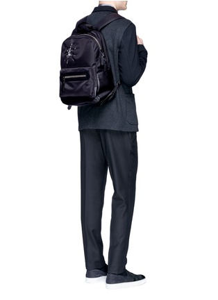 Figure View - Click To Enlarge - Lanvin - Spider embroidery nylon backpack