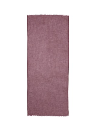 Main View - Click To Enlarge - Faliero Sarti - Frayed edge cashmere-silk scarf