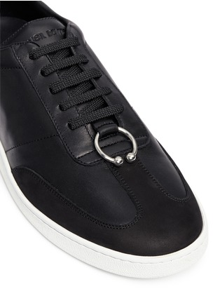 Detail View - Click To Enlarge - Neil Barrett - Pierced punk retro leather trainers