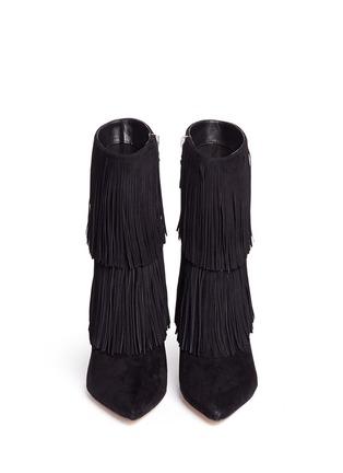 Front View - Click To Enlarge - SAM EDELMAN - 'Belinda' fringe suede boots