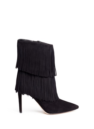 Main View - Click To Enlarge - SAM EDELMAN - 'Belinda' fringe suede boots