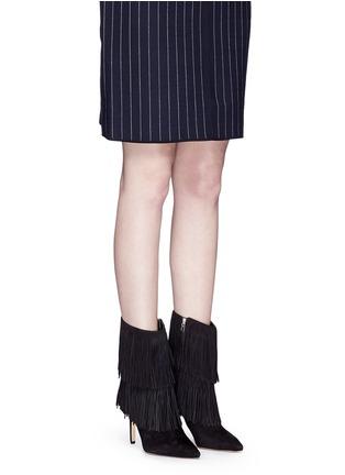 Figure View - Click To Enlarge - SAM EDELMAN - 'Belinda' fringe suede boots