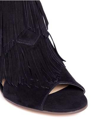 Detail View - Click To Enlarge - SAM EDELMAN - 'Elaine' fringe suede peep toe sandals