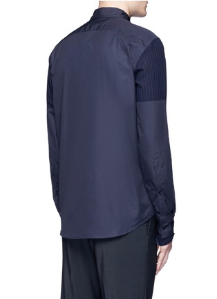 Back View - Click To Enlarge - Marni - Layered pinstripe sleeve cotton shirt
