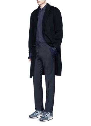 Figure View - Click To Enlarge - Marni - Layered pinstripe sleeve cotton shirt