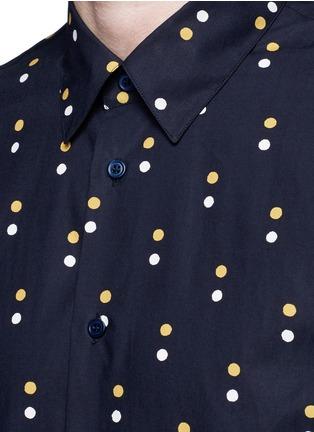 Detail View - Click To Enlarge - Marni - Dot print cotton shirt