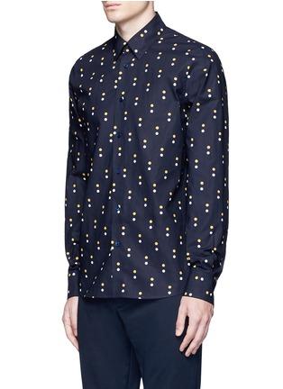 Front View - Click To Enlarge - Marni - Dot print cotton shirt