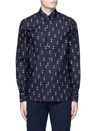 Main View - Click To Enlarge - Marni - Dot print cotton shirt