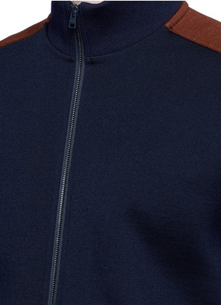 Detail View - Click To Enlarge - Marni - Contrast sleeve track jacket