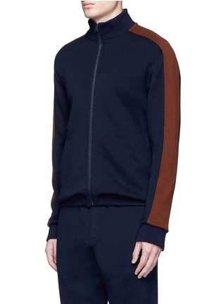 Front View - Click To Enlarge - Marni - Contrast sleeve track jacket
