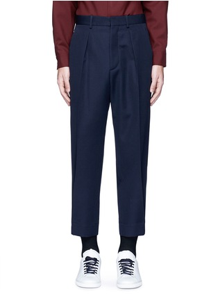 Main View - Click To Enlarge - Marni - Pleated wool gabardine pants