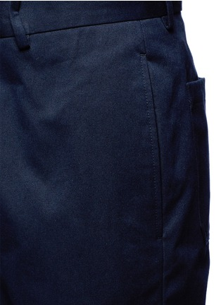 Detail View - Click To Enlarge - Marni - Slim fit rolled cuff cotton pants
