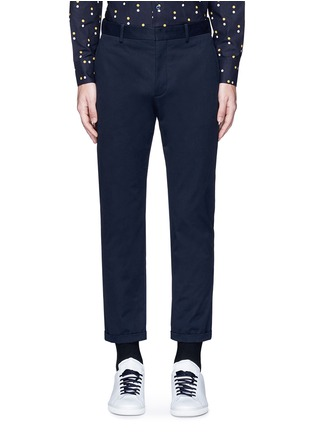 Main View - Click To Enlarge - Marni - Slim fit rolled cuff cotton pants