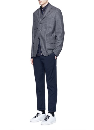 Figure View - Click To Enlarge - Marni - Slim fit rolled cuff cotton pants