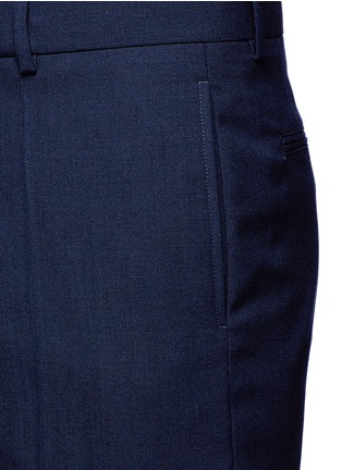 Detail View - Click To Enlarge - Marni - Wide leg rolled cuff wool pants