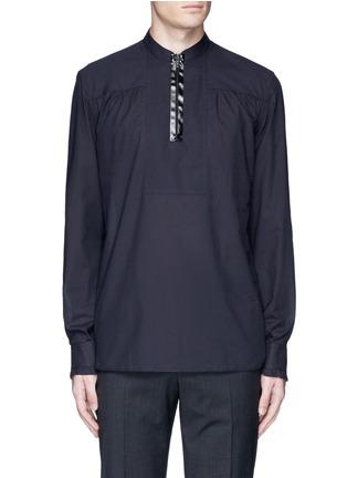 Main View - Click To Enlarge - Maison Margiela - Zip front cotton poplin shirt