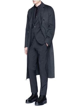 Figure View - Click To Enlarge - Maison Margiela - Zip front cotton poplin shirt