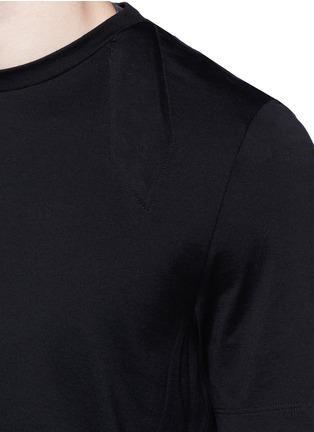 Detail View - Click To Enlarge - Maison Margiela - Neck strap cotton T-shirt