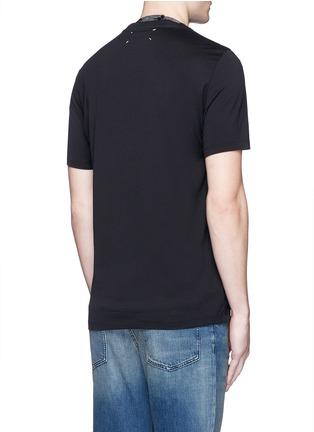 Back View - Click To Enlarge - Maison Margiela - Neck strap cotton T-shirt